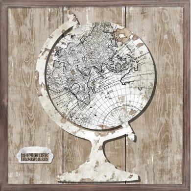Quadro su tela World Map 40x40 cm