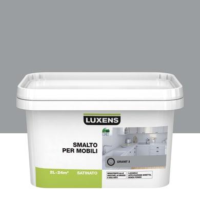 Pittura di ristrutturazione mobile cucina LUXENS 2 l grigio granito 3