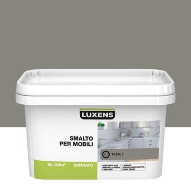 Pittura di ristrutturazione mobile cucina LUXENS 2 l marrone fossil 3