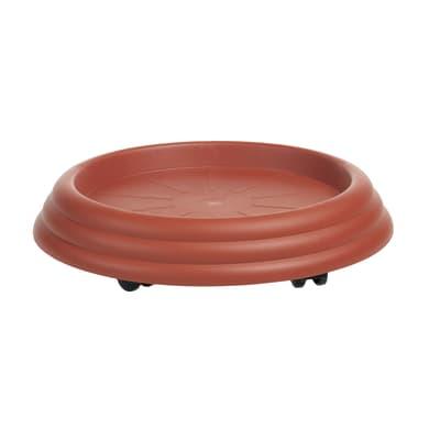 Supporto con rotelle per vaso in plastica H 7.5 cm,Ø 51 cm