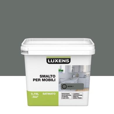 Pittura di ristrutturazione mobile cucina LUXENS 0.75 l grigio moon 1
