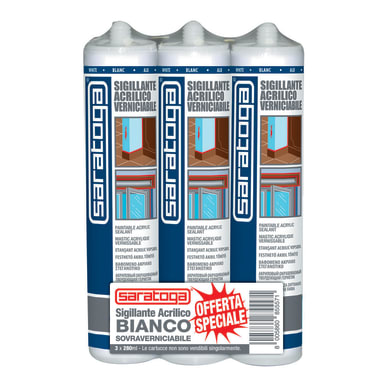 Sigillante SARATOGA Muri e fessure Trispack bianco 280 ml