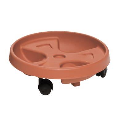 Supporto con rotelle per vaso in plastica H 10 cm, L 30 x Ø 30 cm