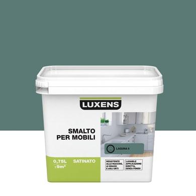 Pittura di ristrutturazione mobile cucina LUXENS 0.75 l verde laguna 5
