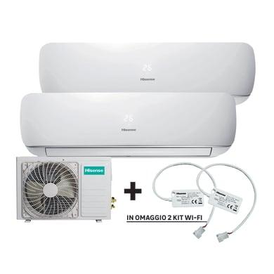 Climatizzatore dualsplit HISENSE Mini Slim + kit Wi-Fi 9000 BTU classe A++
