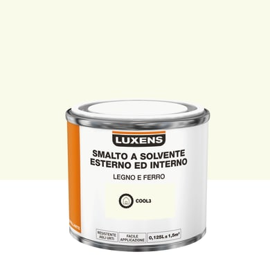 Pittura LUXENS base solvente bianco cool 3 0,125 L