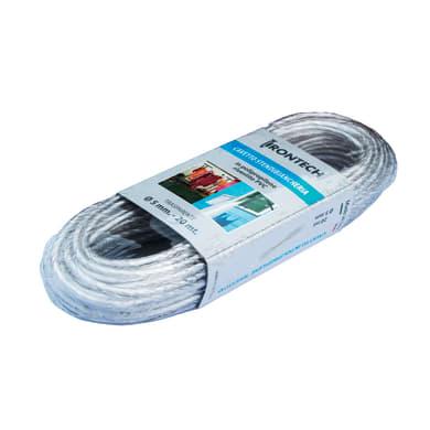 Corda stendibiancheria STANDERS rivestito PVC trasparente in polipropilene Ø 5 mm x 20 m