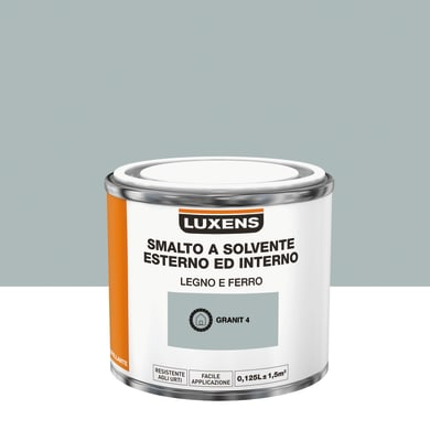 Pittura LUXENS base solvente grigio granit 4 0,125 L
