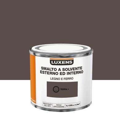 Pittura LUXENS base solvente marrone terra 1 0,125 L