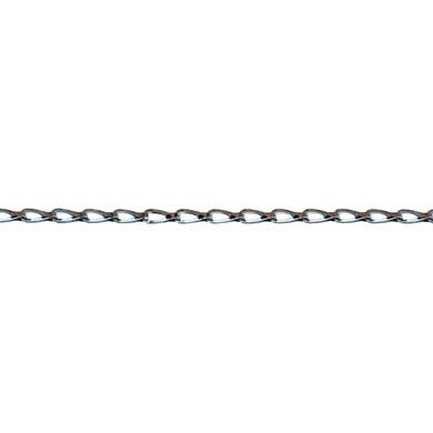 Catena tranciata Ø 0,3 mm. cromato in ottone