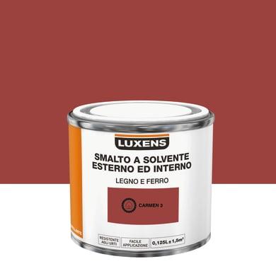 Pittura LUXENS base solvente rosso carmen 3 0,125 L