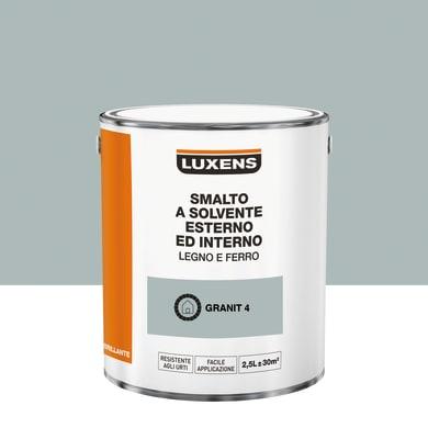 Pittura LUXENS base solvente grigio granit 4 2.5 L