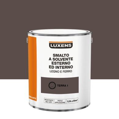 Pittura LUXENS base solvente marrone terra 1 2.5 L