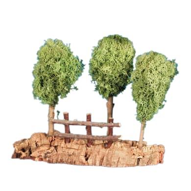 Alberi su roccia H 5 cm