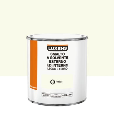 Pittura LUXENS base solvente bianco cool 3 0.75 L