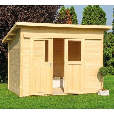 Casetta da giardino in legno Lipsia,  superficie interna 5.8 m² e spessore parete 18 mm