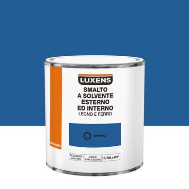 Pittura LUXENS base solvente blu saphi 2 0.75 L