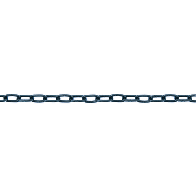 Catena STANDERS forzatina Ø 1,6 mm. nero in acciaio