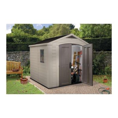 Casetta da giardino in resina Factor 8x8 KETER 5.62 m² spessore 16 mm