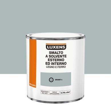 Pittura LUXENS base solvente grigio granit 4 0.75 L