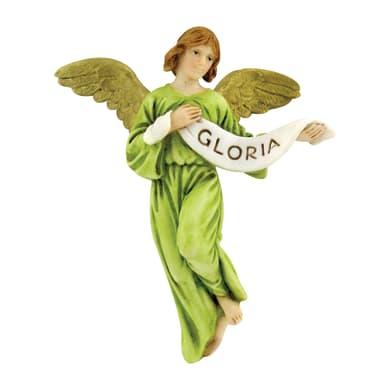 Angelo gloria in resina  H 12 cm