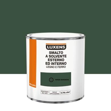 Pittura LUXENS base solvente verde bandiera 0.75 L
