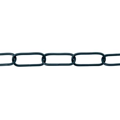 Catena genovese maglia lunga Ø 2,7 mm. nero in acciaio