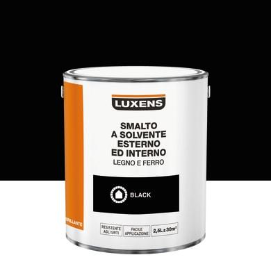 Pittura LUXENS base solvente nero 2.5 L