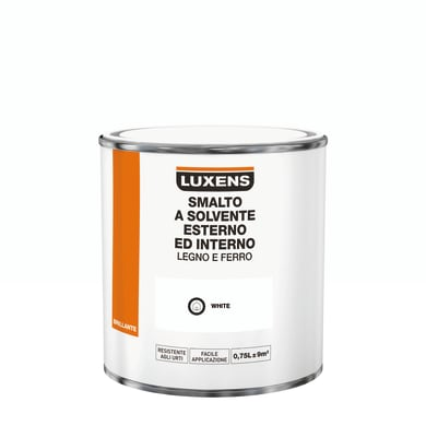 Pittura LUXENS base solvente bianco 0.75 L