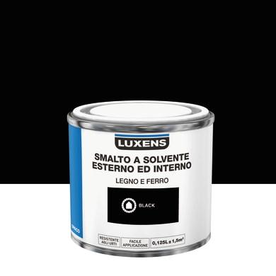 Pittura LUXENS base solvente nero 0,125 L