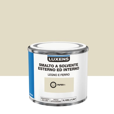 Pittura LUXENS base solvente bianco pape 1 0,125 L