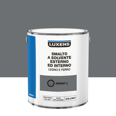Pittura LUXENS base solvente grigio granit 2 2.5 L