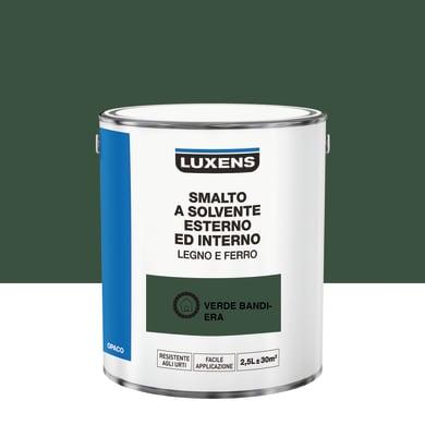 Pittura LUXENS base solvente verde bandiera 2.5 L