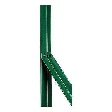 Palo in acciaio plastificato Saetta in angolare plastificata 25x25mm L 2,5 x P 2.5 x x H 170 cm