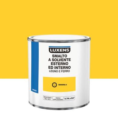 Pittura LUXENS base solvente giallo banana 4 0.75 L