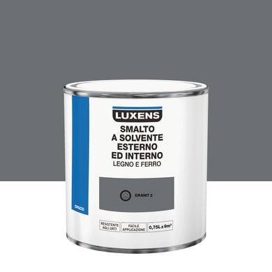 Pittura LUXENS base solvente grigio granit 2 0.75 L
