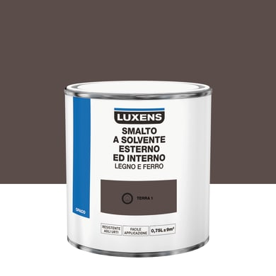 Pittura LUXENS base solvente marrone terra 1 0.75 L