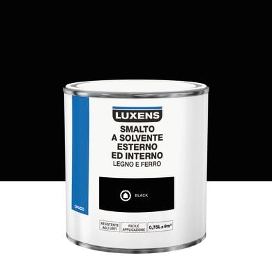 Pittura LUXENS base solvente nero 0.75 L
