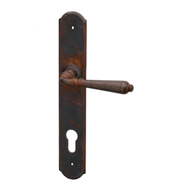 Maniglia con placca GHIDINI Rustica in ferro anticato
