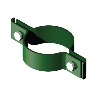 Collare di fissaggio in acciaio galvanizzato plastificato Doppio L 12 x P 12 x x H 2.5 cm