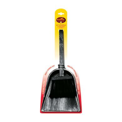 Accessori per caminetti kit spazzola e paletta L 17 x H 43 x P 2.5 cm