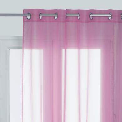 Tenda Polyone rosa occhielli 140 x 280 cm