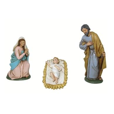 Natività in resina 3 pezzi H 10 cm