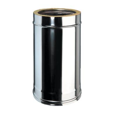 Condotto a doppia parete Tubo DP coib Aisi 316L d.150/200 in inox 316l (elevata resistenza in condizioni climatiche estreme) 50 cm