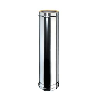 Condotto a doppia parete Tubo DP coib Aisi 316L d.80/130 in inox 316l (elevata resistenza in condizioni climatiche estreme) 100 cm
