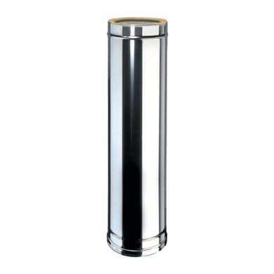 Condotto a doppia parete Tubo DP coib Aisi 316L d.130/180 in inox 316l (elevata resistenza in condizioni climatiche estreme) 100 cm