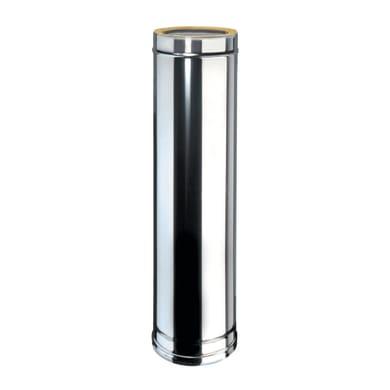 Condotto a doppia parete Tubo DP coib Aisi 316L d.180/230 in inox 316l (elevata resistenza in condizioni climatiche estreme) 100 cm