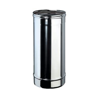 Tubo Tubo m.0,5 inox aisi 316L Dn 100 mm in inox 316l (elevata resistenza in condizioni climatiche estreme) L 50 cm x Ø 100 mm