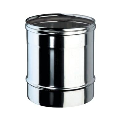 Tubo Tubo m.0,25 inox aisi 316L Dn 130 mm in inox 316l (elevata resistenza in condizioni climatiche estreme) L 25 cm x Ø 130 mm