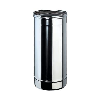 Tubo Tubo m.0,5 inox aisi 316L Dn 130 mm in inox 316l (elevata resistenza in condizioni climatiche estreme) L 50 cm x Ø 130 mm